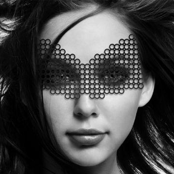 Bijoux Indiscrets Erika Eye Mask Worn by Model
