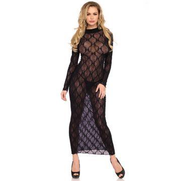 Leg Avenue Bow Lace Long Sleeved Long Dress