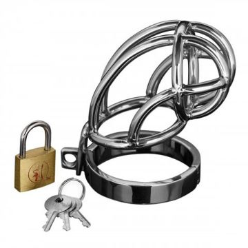 Master Series Chastity Devices Stainless Steel Captus Cock Cage