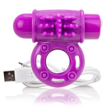Screaming O Charged OWow Rechargeable Purple Cock Ring