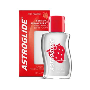 Astroglide Sensual Strawberry Flavoured Lubricant 2.5oz