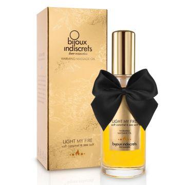 Bijoux Indiscrets Light My Fire Soft Caramel Warming Massage Oil 100ml