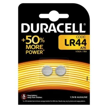 Duracell LR44 Cell Batteries 2 Pack