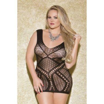 Glitter Mesmerize Mini Dress Queen Size