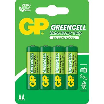 Greencell AA Batteries 4 Pack