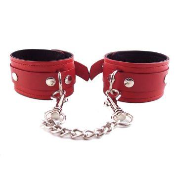 Harmony Red Leather Wrist Restraints