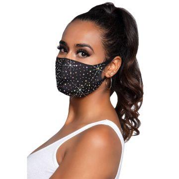 Naya Rhinestone Face Mask
