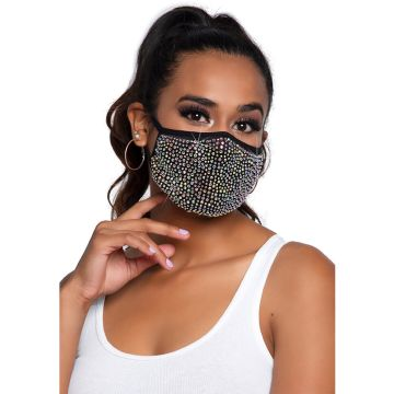 Zuri Rhinestone Face Mask