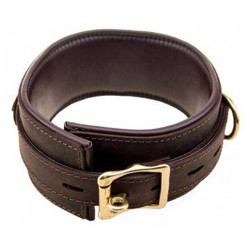 Bound Nubuck Leather Collar Top