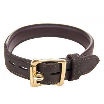 Bound Nubuck Leather Chocker with O-Ring