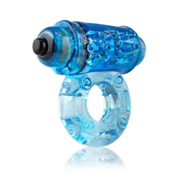 Screaming O Owow Super-Powered Vibrating Blue Cock Ring