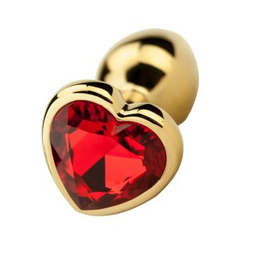 Precious Metals Heart Shaped Jewelled Plug