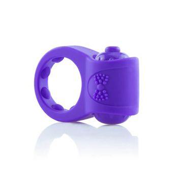 Screaming O Primo Tux Vibrating Purple Cock Ring