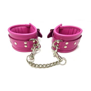 Rouge Pink Padded Ankle Cuffs