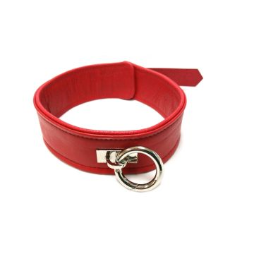 Harmony Red Leather Collar