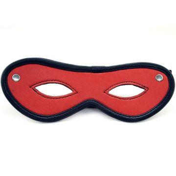 Harmony Red Leather Open Eye Mask