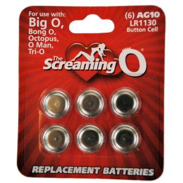 Screaming O AG10 (LR1130) Cell Batteries 6 Pack