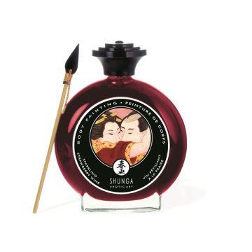 Shunga Body Paint - Strawberry Wine