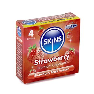 Strawberry Flavoured Condoms by Skins
