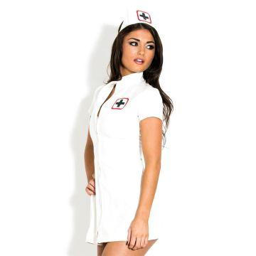 Honour PVC White Nurse Dress