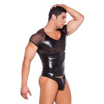 Allure Wet Look T-Shirt Zeus Front