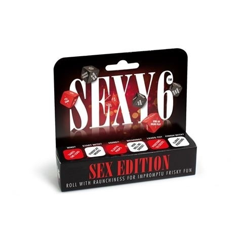 a package of sex themed dice